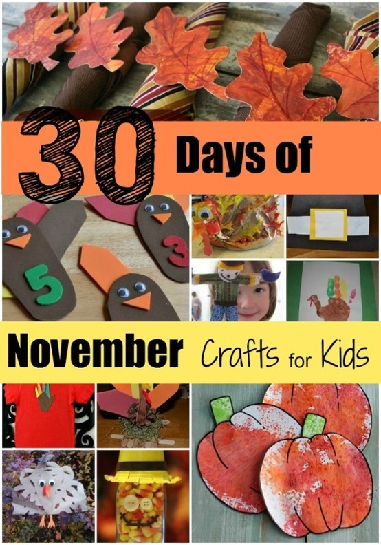Mamas Like Me: 30 Days of November Crafts for Kids. Fun stuff!