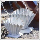 Atlanta's Starlight Six Giant Flea Market: White Metal Baskets