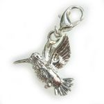 Silver humming bird charm
