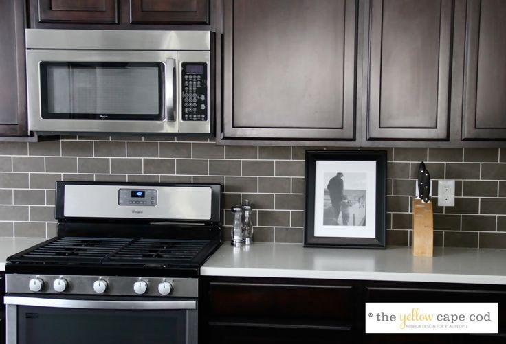 Best Dark Tile Light Grout Kitchen Backsplash Here S 400 x 300
