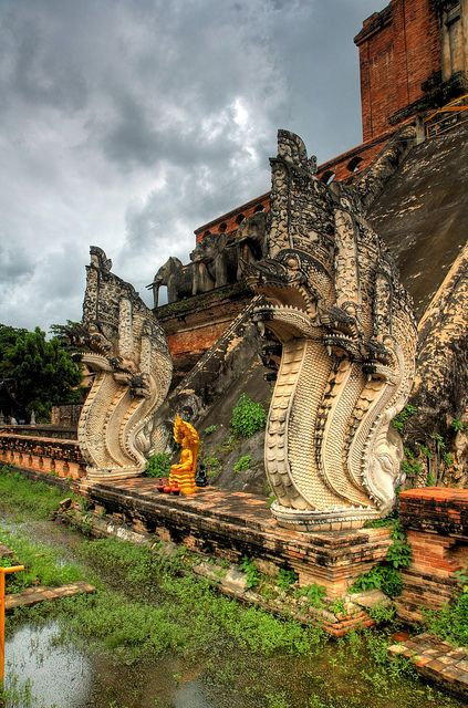 Wat Chedi Luang Thailand...we were actually here.  It's amazing, and probably the oldest man made structure I will ever see.....2014