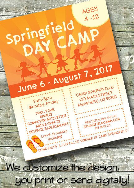 44 best community church flyers images on pinterest youth summer camp kids day camp invite flyer poster 300 dpi digital invitation by ditditdigital on etsy stopboris Images