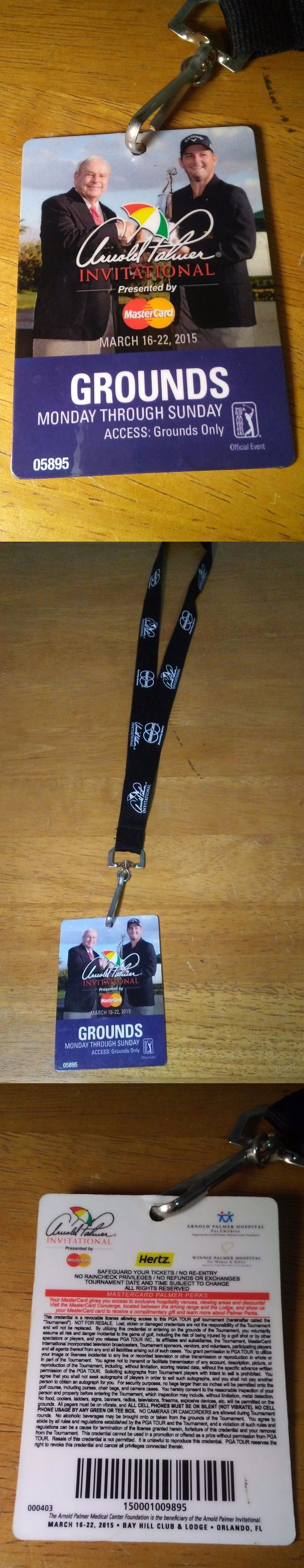 Golf 428: 2015 Arnold Palmer Invitational Golf Bay Hill Grounds Weekly Badge With Lanyard -> BUY IT NOW ONLY: $78.99 on eBay!