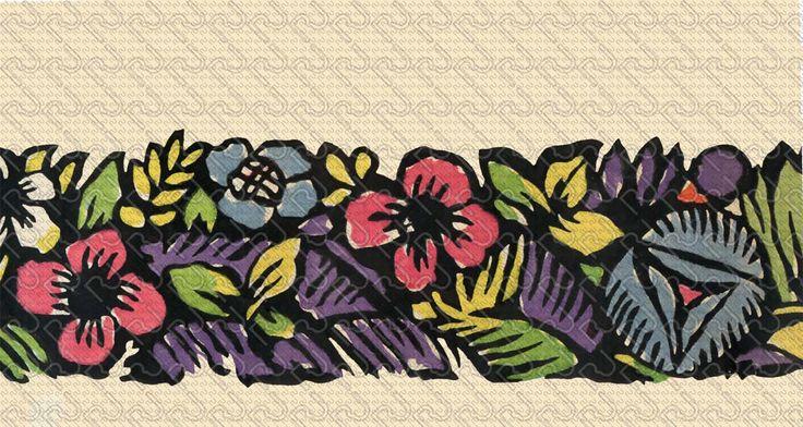 (9166) 20's flat graphic flower – anni 20 fiore piatto grafico (preview150dpi) – Imagesfashiontextiles