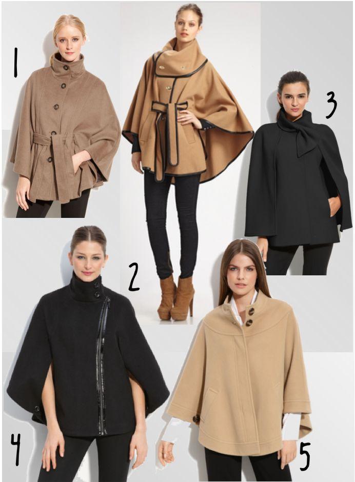 rachel zoe capelet | Calvin Klein belted cape