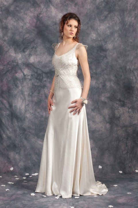 Silver Mesh Vest Sheath Bridal Gown http://www.arcarocouture.com.au