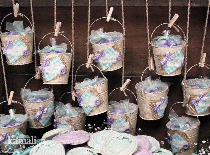 www.kamalion.com.mx - Mesa de Dulces / Candy Bar / Postres / Vintage / Rustic / Baby Shower / Mint & Purple / Menta & morado