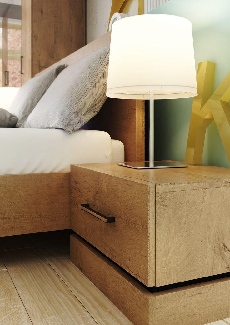 stolik nocny / bedside table KARDAMON #bedroom #sypialnia #mebledosypialni #bedroomfurniture #meble #furniture #lozko #bed #design #interior #wnetrza #stoliknocny #bedsidetable #furnitureproducer #dignet #dignetlenart #mebledenver