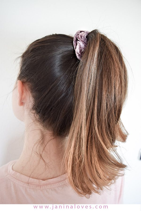 Scrunchie Haargummi 5 Arten Den Trend Der 90er Zu Stylen Coole Frisuren Blonde Ombre Haare Lange Haare