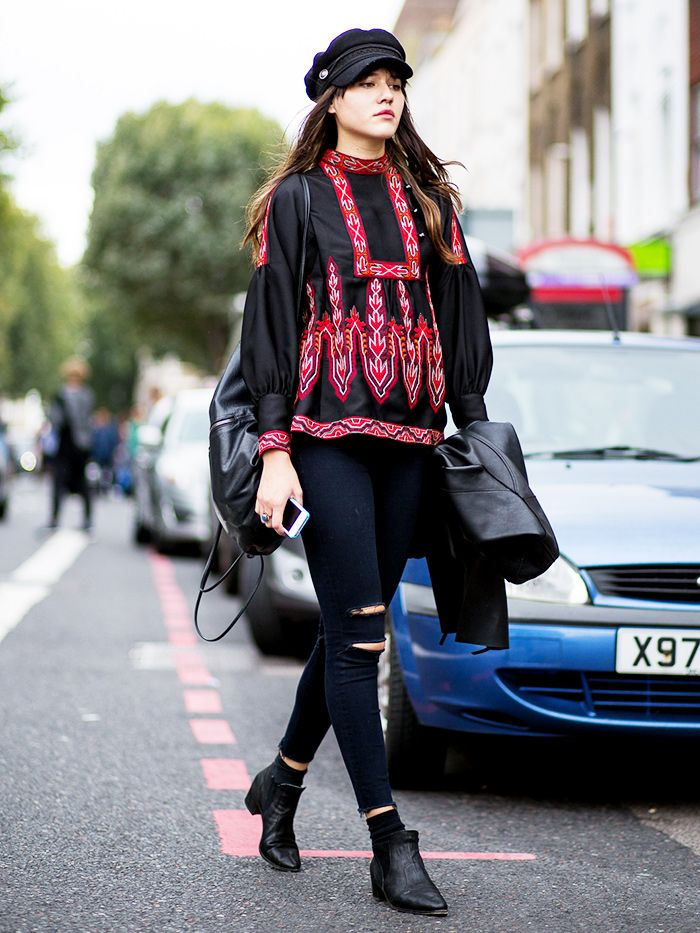 Loving fashion blogger, Natalie Off Duty's casual bohemian OOTD