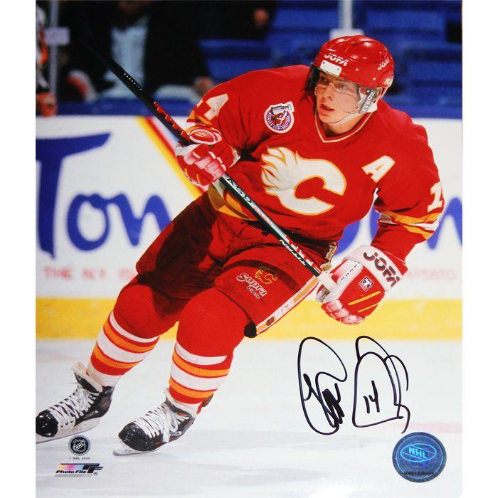 NHL Calgary Flames Theoren Fleury Autographed 8x10 Photograph