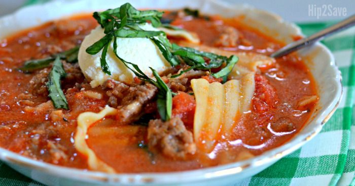 Here's an easy and delicious way to get all the flavors of homemade lasagna in a hearty and comforting soup!