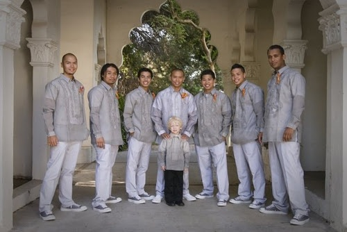 Love the Grey Barong Tagalogs <3