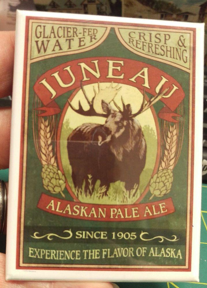 Alaska Magnet - Juneau Alaskan Pale Ale - Glacier Fed Water - Ships worldwide   http://www.wayupinalaska.com/magnets.html