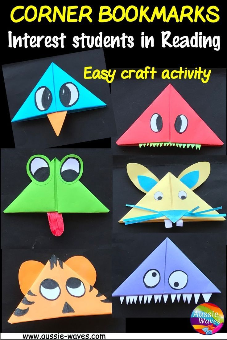 Corner Bookmarks For Students To Craft Easter Learning