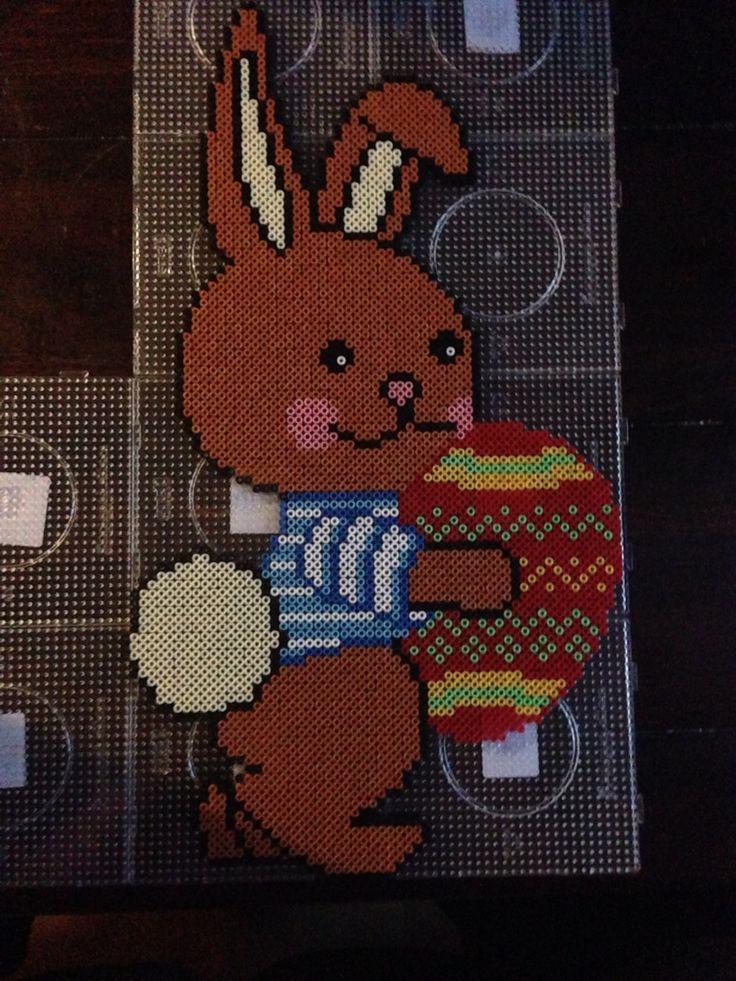 Easter bunny hama perler beads by Dorte Marker