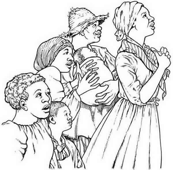 slavery coloring pages printable - photo#8