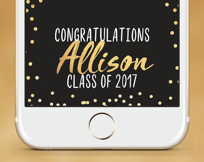 Snapchat Geofilter Graduation - Free Name Change - Graduation Gift, Grad Cap Toss, Class Of 2017, Uni, Hat Toss, Frat Party, Celebration