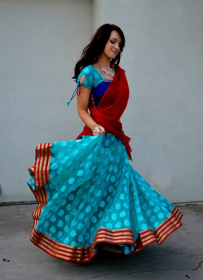 Fascinating with Jewel Stones | Dancing Gopi Skirt Outfits