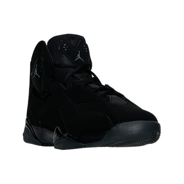 Nike Men's Jordan True Flight Basketball Shoes ($140) ❤ liked on Polyvore featuring men's fashion, men's shoes, men's athletic shoes, black, mens leopard print shoes, mens leather shoes, mens shoes and mens black shoes
