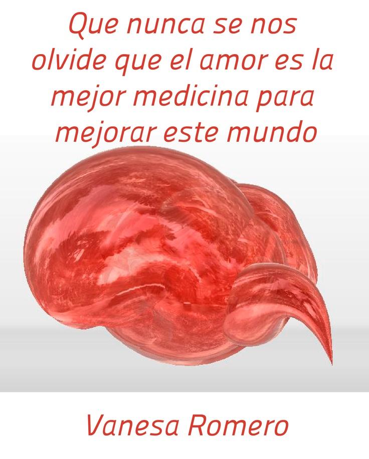 Vanesa Romero: que nunca se nos olvide que el amor es la mejor medicina para mejorar este mundo
