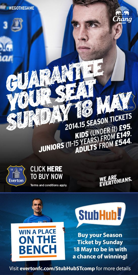 Love this idea by Everton to win a seat on the bench at a home game