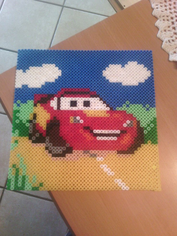 McQueen Cars hama perler beads by Juju88410