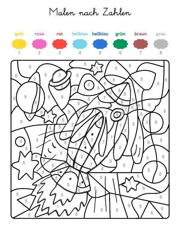 Wenn Ihr Kind Das Ganze Motiv Auf Der Kostenlosen Malvorlage Mit Den Farben Ausgemalt Hat Malen Nach Zahlen Malen Nach Zahlen Kinder Malen Nach Zahlen Vorlagen