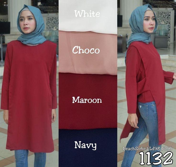 Ready SN1132 @65rb (KHUSUS GROSIR)  Bahan Peach Sofie  Seri 4 Warna  LD98 cm  P100 cm  ㅤ  new upload nih untuk reseller kesayanganku  konveksi busana muslim, wholesale yah sis...... Contact us for more detail  line: @ konveksi.hijab (pakai tanda @ yah)  WA: 0858 8533 3907  store location: PGMTA lantai LG blok B no.176  Menerima pembuatan model minimal 5 lusin yah sis untuk 1 model... #olshopsemarang #exploresemarang #onlineshopsemarang #semarangolshop   #olshopyogyakarta #surakarta…