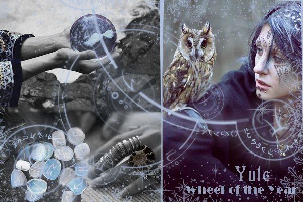 Колесо года, Йоль Wheel of the Year, Yule, postcard