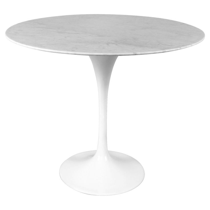 Have to have it. Mid-Century Marble End Table - White - $465 @hayneedle