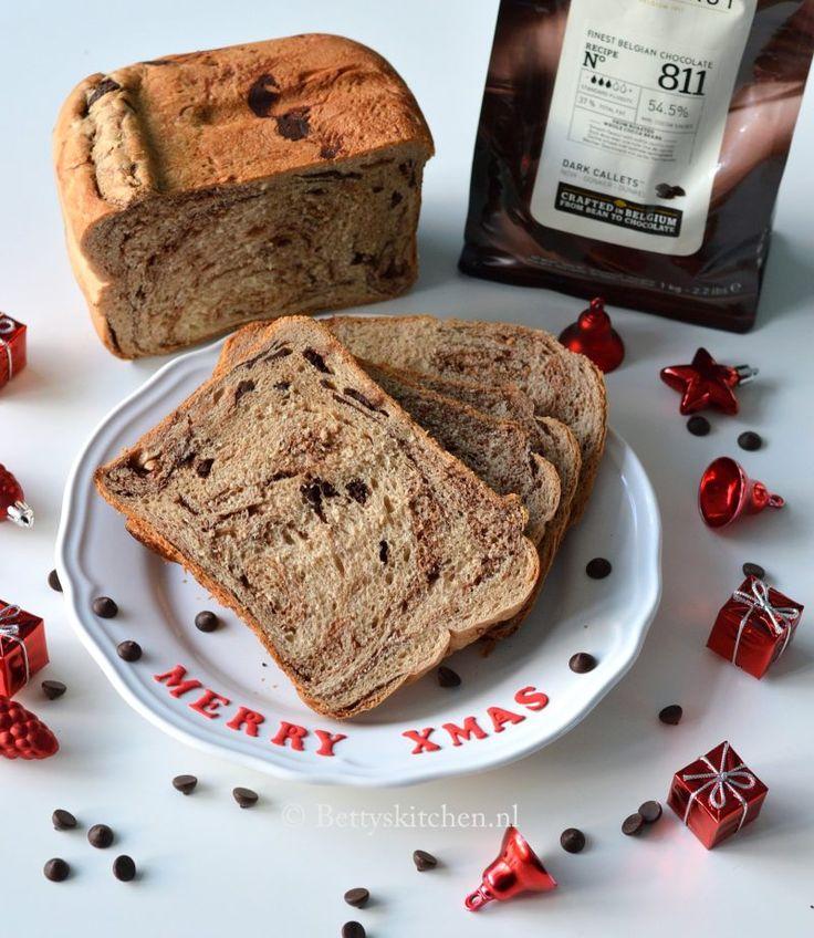 Chocoladebrood uit de broodbakmachine