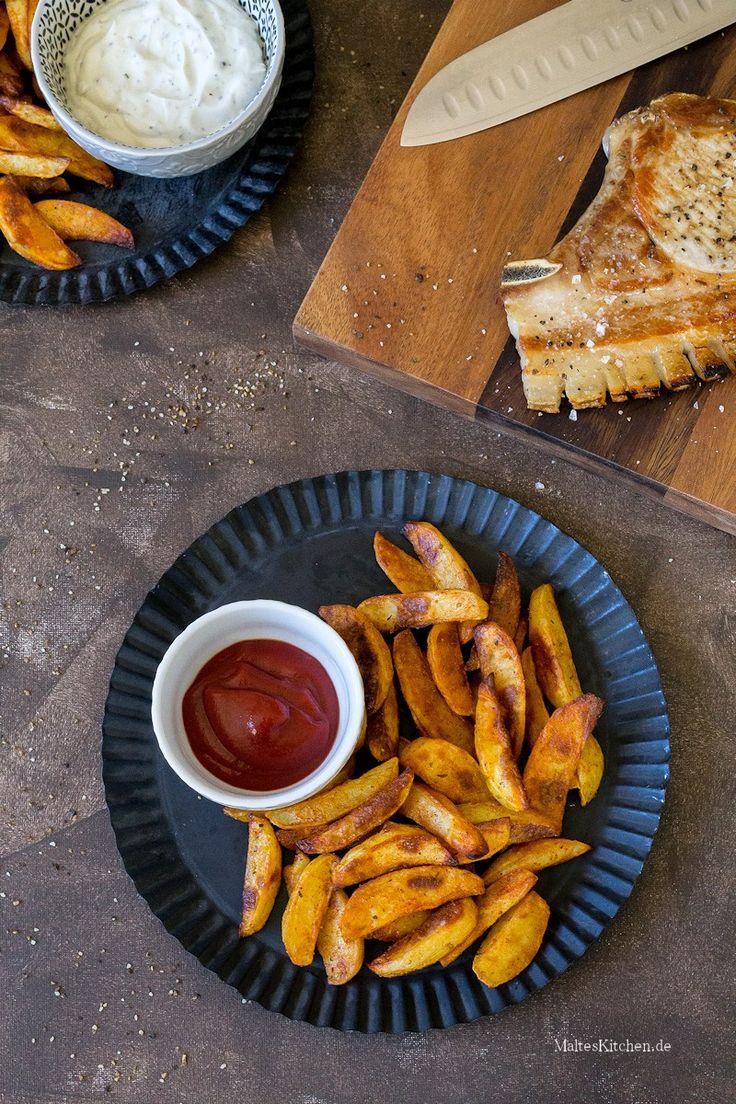 Würzige und knusprige Kartoffelecken aus dem Ofen | malteskitchen.de