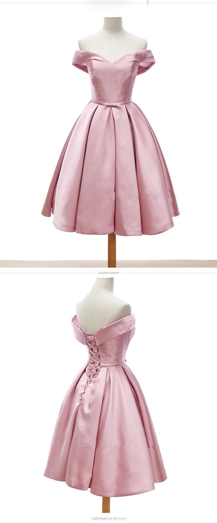 pink homecoming dress, 2017 short homecoming dress, princess off the shoulder party dress