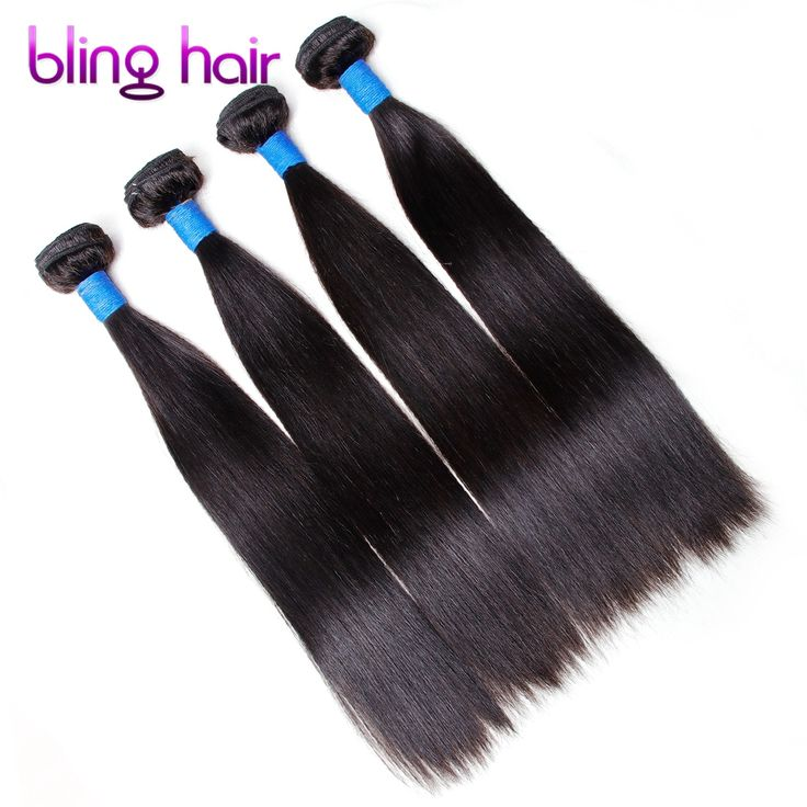 Bling Hair Peruvian Straight 4 Bundles Nature Black Remy Human Hair For Salon Hair Extention Low Ratio Longest Hair PCT 15%