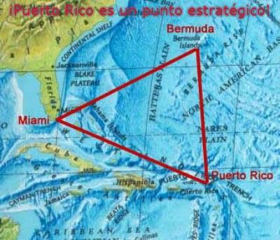 Puerto Rico es un punto estratégico del Mar Caribe:    Puerto Rico es un punto estratégico que habre las puertas del Mar Caribe, El océano Atlántico, El océano Pacífico, El Golfo de México y es un Puente Principal entre las Las Antillas Mayores y Las Antillas Menores que incluye El Triángulo de las Bermudas.