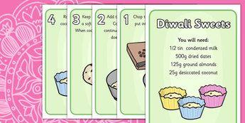 Easy Diwali Sweets Recipe - recipe, easy recipe, basic recipe, basic sweets recipe, easy sweets recipe, cooking, baking, how to make diwali sweets, kids recipes, instructions, ingredients, festival, religion, hindu, devali, deepavali, dates, coconut,