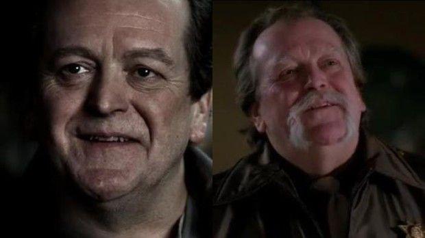 Роли актера Дон Томпсон в сериале: старый товарищ Джона Винчестера мистер Гюнтер в эпизоде 1.09 и шериф Джейк Миллер в эпизоде 8.11.