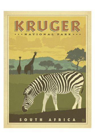 Kruger National Park, South Africa Poster van Anderson Design Group bij AllPosters.nl