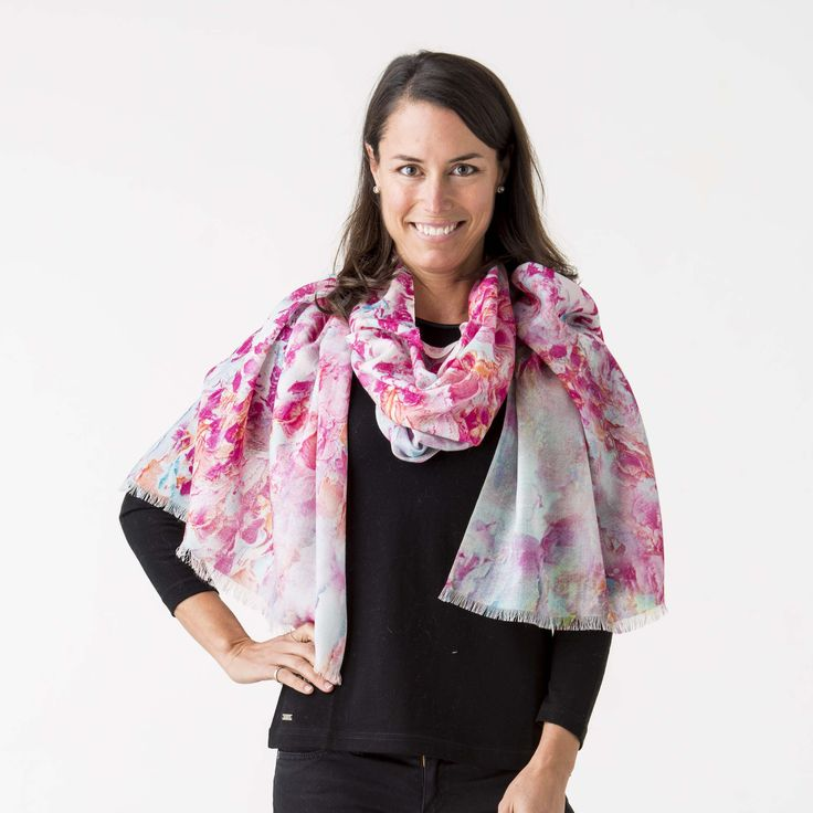 Printed Scarf 100% Flower Pink http://www.creswickwool.com/accessories/scarfs/printed-scarf-100-flower-pink.html