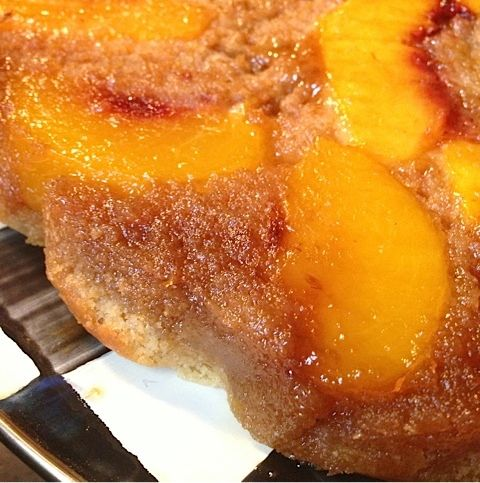 Making Peach Upside Down Cake for Dinner Guests | Reluctant ...