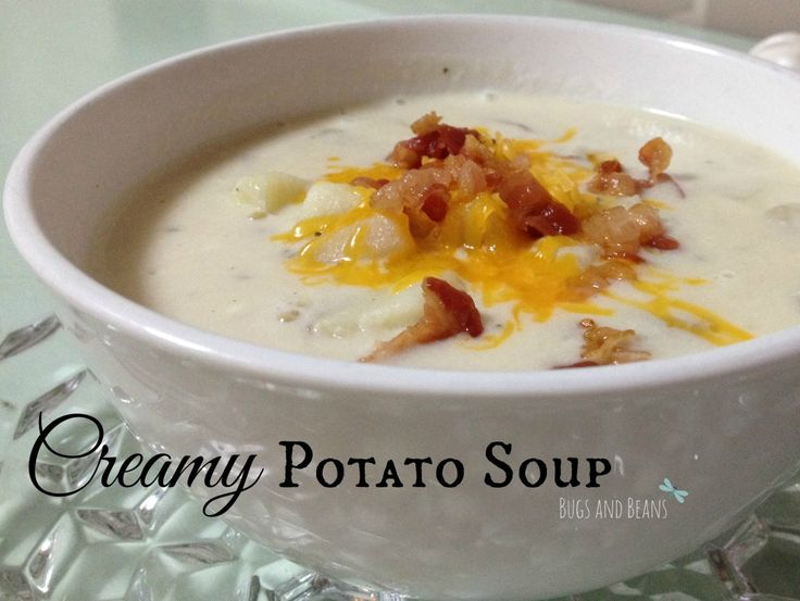 I made this creamy potato soup for company, and it was so easy and a huge hit! #recipe