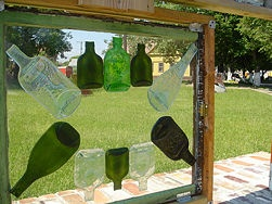 how to flatten glass bottles.Lots of possibilities.