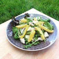 O cestinho da mamã  : Salada de frango com molho de citrinos