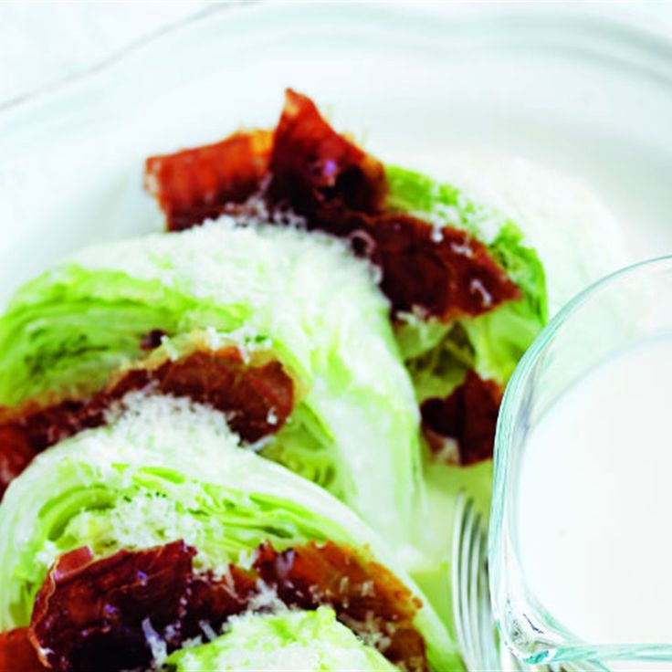 Iceberg Salad with Crispy Maple-Glazed Prosciutto Recipe by Donna Hay from a donna hay christmas