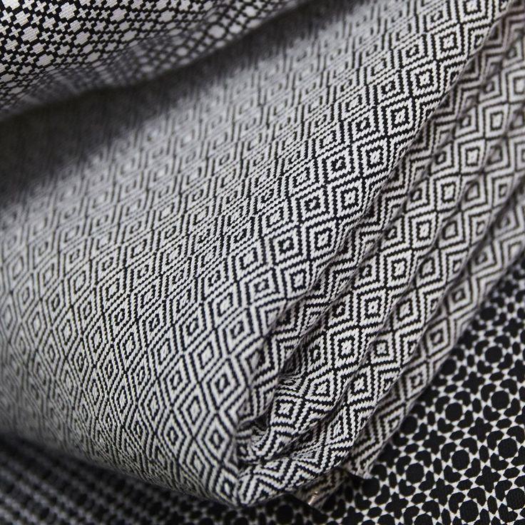Tissu coton noir et blanc losanges - Tissus - MAISON Mondial Tissus