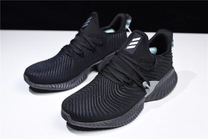 new arrival ed353 7cc68 adidas AlphaBounce Instinct Black Grey Mens Womens Running Shoes-1