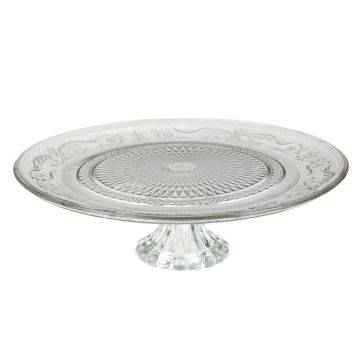 Clear Cake Plate - great for serving pies or cupcakes at the reception! #WeddingIdeas #Kirklands