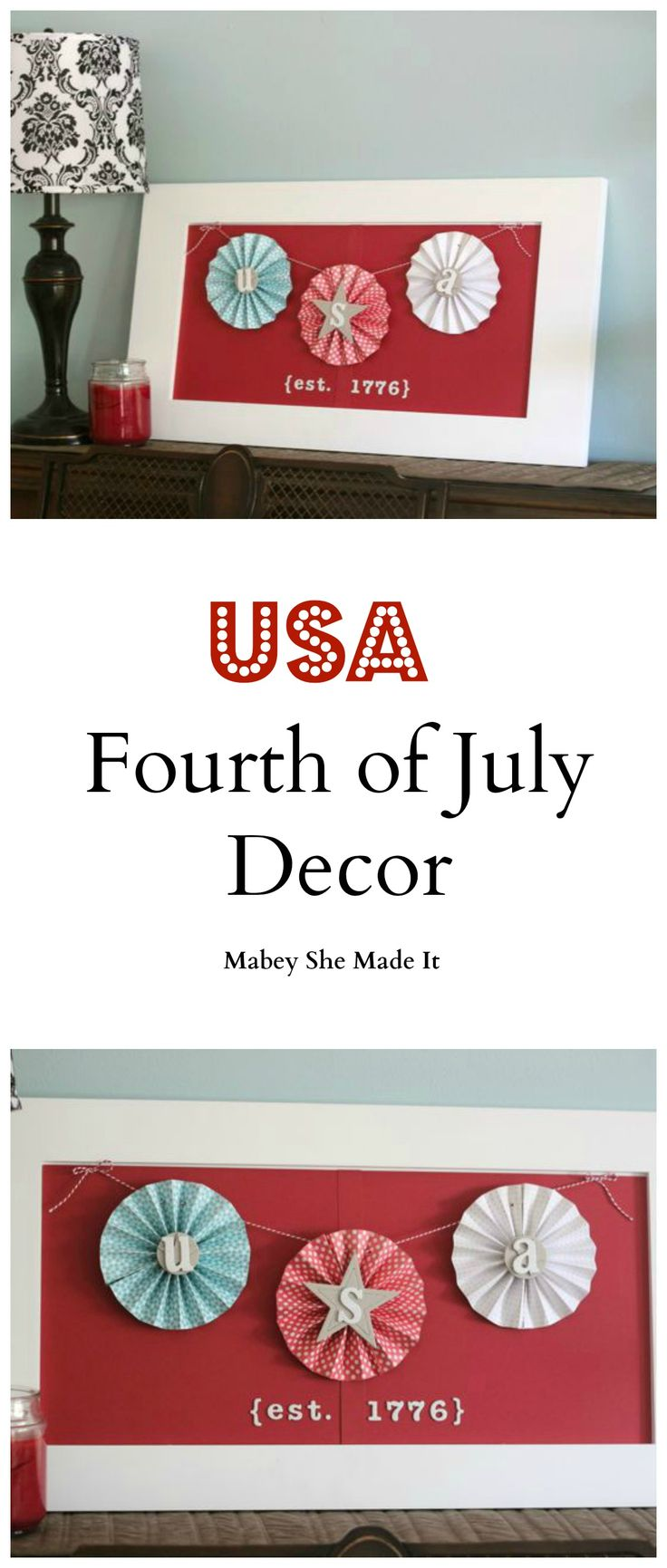 Looking to make your independence day home décor sparkle this year? Get ready for the Fourth of July with these festive medallions by Mabey She Made It.