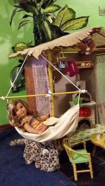 I am honored to share with you a readers DIY Rainforest House that turned out amazing! She has provided pictures and details below and she has even made a few things that AGI hasn't yet. Like the table and chairs, hammock, and several accessories. Feel free to leave comments and ask any questions you have …